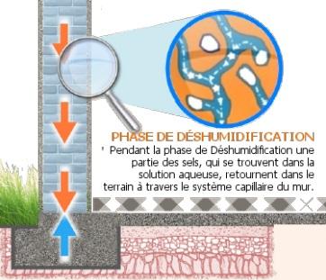 assèchement d'un mur humide – phase II